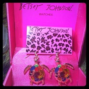NWT BETSEY JOHNSON Sea Turtle Earrings